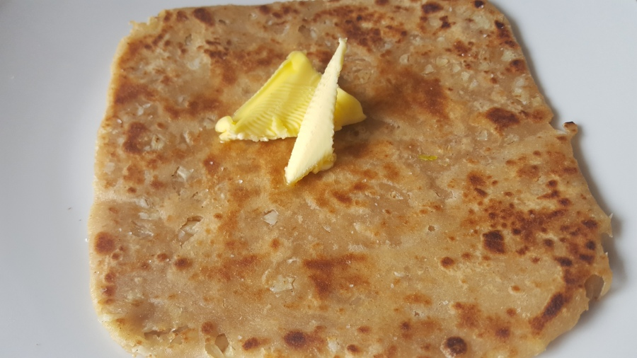 Whole wheat Garlic parantha- healthy and yummy
