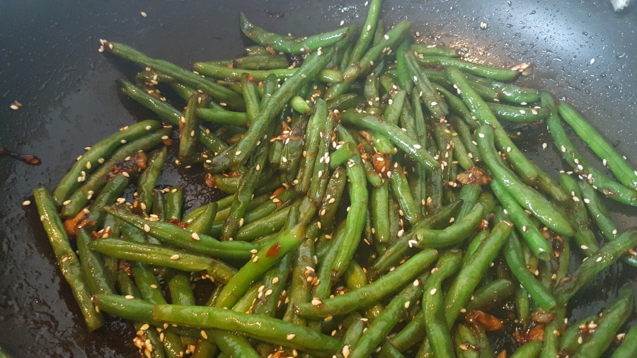 Asian Beans using Frozen beans