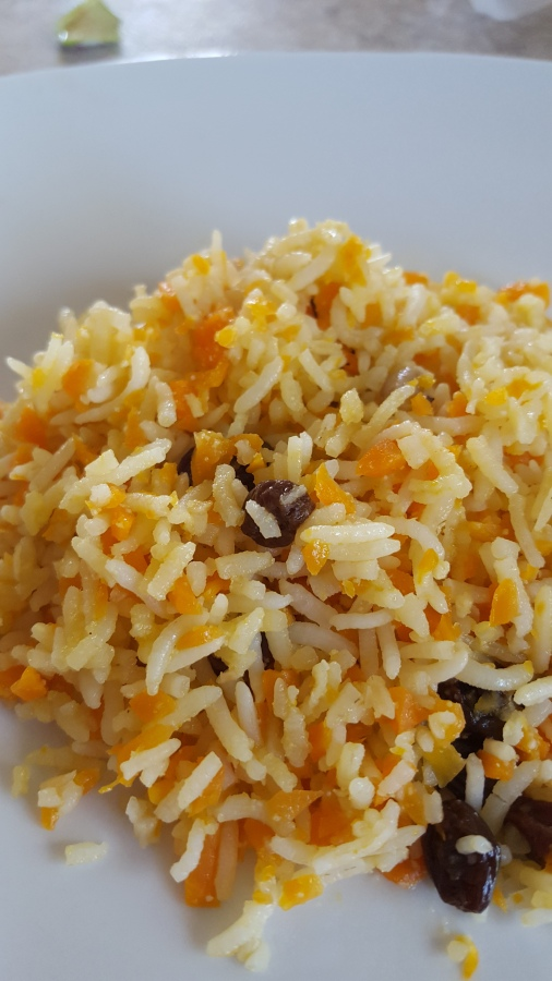 Orange and Carrot Rice